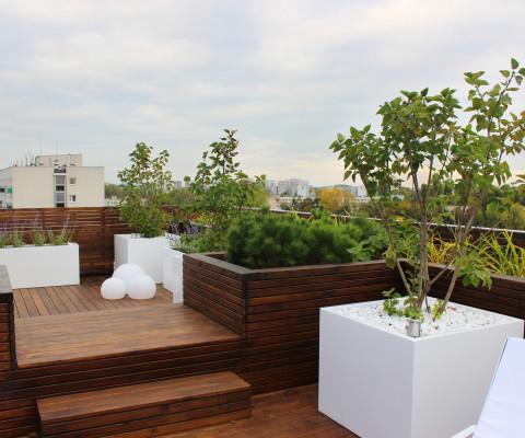 Taras drewniany na dachu