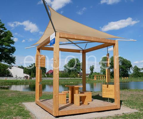 Ekologiczny drewniany kubik edukacyjny