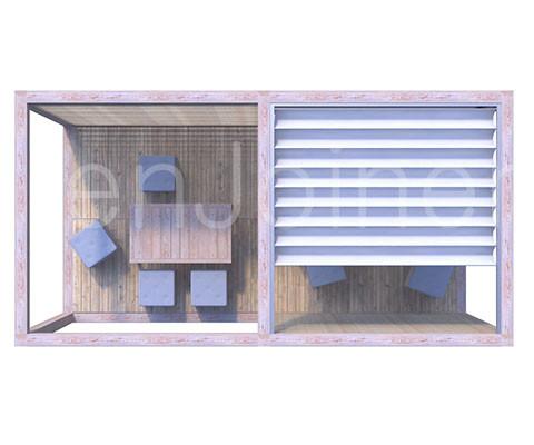 domek modułowy, nowoczesna altana