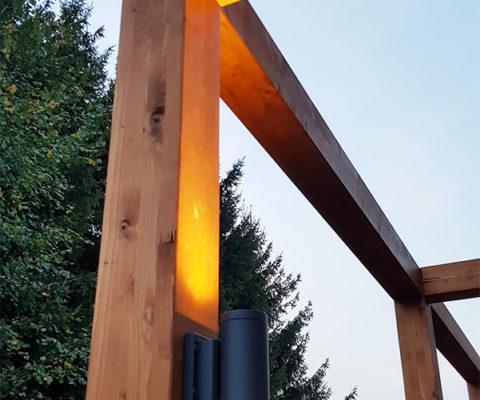Taras modułowy z oświetleniem